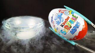 Experiment: Liquid Nitrogen Vs Kinder Surprise