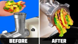 Experiment: Meat Grinder Vs Gummy Bears