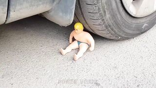 Experiment: Car Vs Stretch Armstrong and Nail Bed