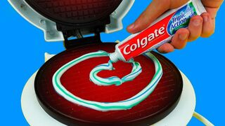 What if to Drop Toothpaste into Waffle Maker