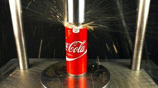 Coca Cola under Hydraulic Press