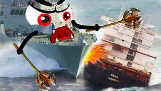 Big Ships Crashing - Ultimate Boat Wreck   Monster Ships Destroy Everythings - Woa Doodles