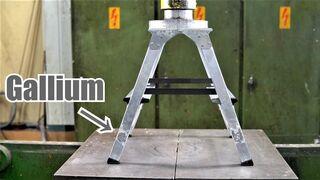 How Strong is Aluminium + Gallium Alloy? Hydraulic Press Test!