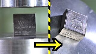 How Strong is Tungsten? Hydraulic Press Test!