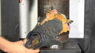 Safety Shoes Vs. World's Fastest Press    at 10,000 fps