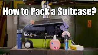 How to Pack a Suitcase with Hydraulic Press | in 4K