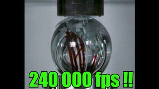 Crushing Glass Balls with Hydraulic Press | Filmed over 100 000 fps!