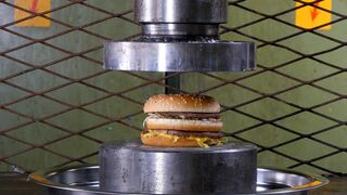 Crushing Hamburgers Hydraulic Press
