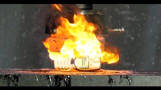 Crushing Nokia 3310 with RED HOT HYDRAULIC PRESS