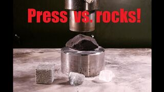 Crushing rocks and minerals with hydraulic press VOL. 1