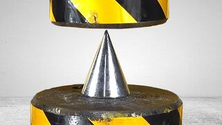 Can solid iron awl penetrate 200 tons of hydraulic pressure?