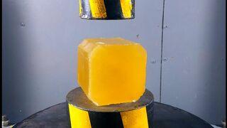 ГИДРАВЛИЧЕСКИЙ ПРЕСС vs КУБА из ЭПОКСИДНОГО КЛЕЯ | Давить предметы - Hydraulic Press 100 ton