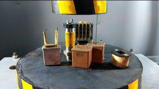 ГИДРАВЛИЧЕСКИЙ ПРЕСС vs АВТОМАТИКИ | Давить предметы - Hydraulic Press 100 ton