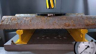 ГИДРАВЛИЧЕСКИЙ ПРЕСС vs ДОРОЖНОГО БРУСА | Давить предметы - Hydraulic Press 100 ton
