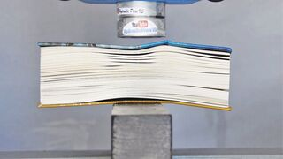 Big Book vs Hydraulic Press - How to turn a book back to wood. Part 2.