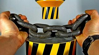 HYDRAULIC PRESS VS STRONG ANCHOR CHAIN