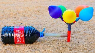 Coca Cola and Mentos vs Balloons
