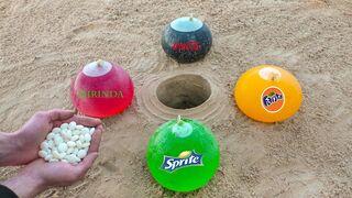 Experiment: Cola, Sprite, Fanta, Mirinda and Mentos Underground