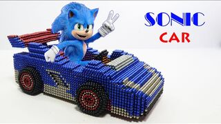 How To Make Sonic Racing Car (Sonic Boom) With Magnetic Balls | Magnet Satisfaction