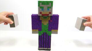 Joker in Minecraft Vs Monster Magnets   Make Minecraft Joker with Magnetic Balls