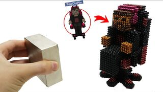Pewdiepie Minecraft Vs Monster Magnets   Make Pewdiepie with Magnetic Balls