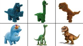 How To Make The Good Dinosaurs In Real Life with Magnetic Balls