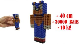 How To Make Sonic Boom in Minecraft with Magnetic Balls   Magnet Satisfation 100%