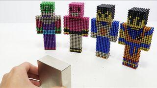 Monster Magnet Vs Dragon Ball in Minecraft   How To Make Dragon Ball Minecraft with Magnetic Balls