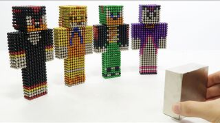 Monster Magnets Vs Sonic Boom in Minecrat | Make Sonic with Magnetic Balls #2
