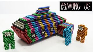 DIY How To Build Spaceship Among Us with Magneitc Balls   Magnetic Satisfation