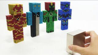Monster Magnets Vs Ben 10 Alien in Minceraft   Magnet Satisfaction