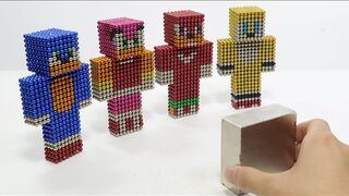 Monster Magnets Vs Sonic Boom in Minecrat   Make Sonic with Magnetic Balls