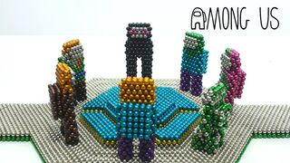 Among Us with Minecraft & Magnetic Balls ( Stop Motion)