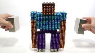 Monster Magnets Vs Golem Steve Minecraft   Make Golem Steve Mashup with Magnetic Balls