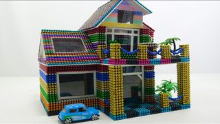 DIY - How To Build Beautiful Modern 2-storey Villa With Magnetic Balls | Magnetic Satisfying