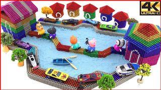 Peppa Pig | Peppa Pig Village | How to make a magnetic village for Peppa pig | Top 10 Magnetics