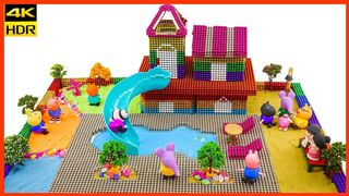 Peppa Pig | Peppa Pig Magnetic Park | How to make magnetic park for peppa pig | Magnetics Balls