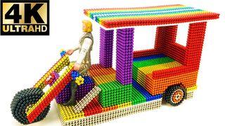 DIY - How To Make Electric Rickshaw [Tuk Tuk] With Magnetic Balls - Satisfaction 100% - BuPi Show 4k