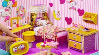 DIY #Miniature #Dollhouse Room - #Hello #Kitty #Room #Decor #10