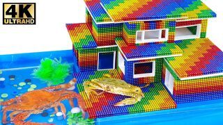 DIY - How To Build Villa  Crab House Aquarium With Magnetic Balls (Satisfying) - Magnet Satisfying