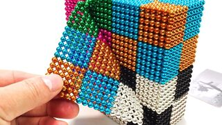 DIY How To Make color Cube with Magnetic balls | Magnetic Toy | ASMR