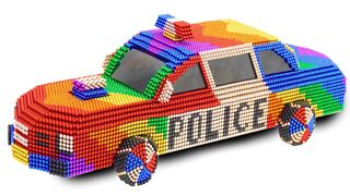 DIY - How To Make Amazing Police Car From Magnetic Balls | ASMR Satisfying Video