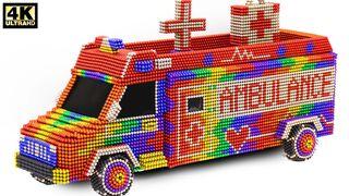DIY - How To Make Modern Ambulance From Magnetic Balls | ASMR Satisfying Video