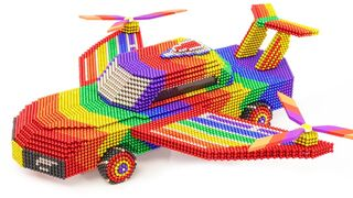 DIY - How To Make Amazing Helicopter Car From Magnetic Balls | ASMR Satisfying Video