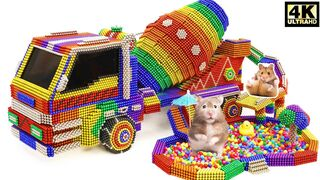 DIY - How To Make Amazing Hamster Playground Tank Truck From Magnetic Balls   ASMR Satisfying Video