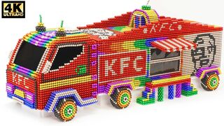 DIY - How To Make Amazing KFC Store Truck Car From Magnetic Balls   ASMR Satisfying Video