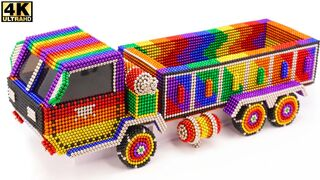 DIY - How To Make Amazing dump truck From Magnetic Balls | ASMR Satisfying Video
