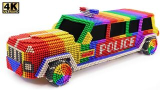 DIY - How To Make Amazing Police limousine car From magnetic Balls | ASMR Satisfying Video