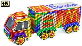 DIY - How to make a beautiful McDonald's truck car from magnetic balls   ASMR Satisfying Video