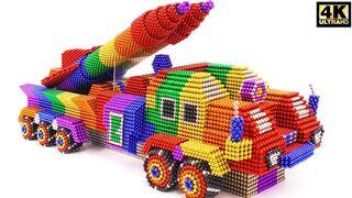 DIY - كيفية جعل شاحنة عسكرية مذهلة لنقل صاروخين من الكرات المغناطيسية (ASMR)
